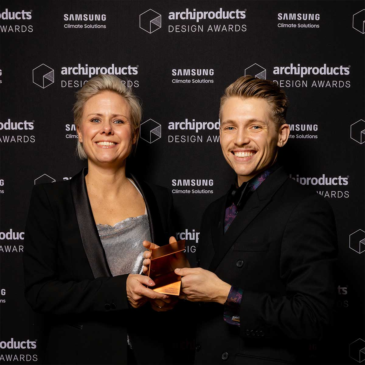 Malin from Mizetto and Karl-Magnus from ADDI at the archiproducts awards